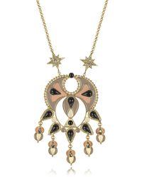 Roberto Cavalli - Gold-tone And Enamel W/multicolor Crystals Long Necklace - Lyst