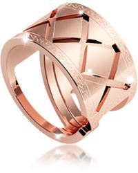Rebecca - Melrose Rose Gold Over Bronze Ring - Lyst