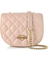 Love Moschino | Pink Superquilted Eco-leather Small Crossbody Bag | Lyst
