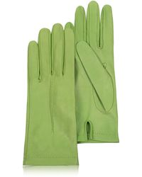 Forzieri | Women's Mint Unlined Italian Leather Gloves | Lyst