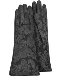 FORZIERI - Gants femme en daim noir - Lyst