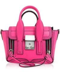 3.1 Phillip Lim - Neon Pink Leather Pashli Nano Satchel - Lyst