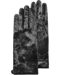 FORZIERI - Women's Black Chenille Gloves - Lyst