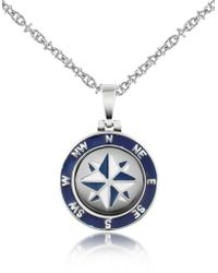Forzieri | Stainless Steel Windrose Pendant Necklace | Lyst