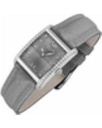Raymond Weil - Don Giovanni - Diamond Frame & Satin Grey Band Dress Watch - Lyst
