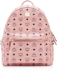 MCM - Soft Pink Small-medium Stark Backpack - Lyst