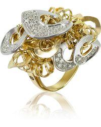 Orlando Orlandini - Fashion - Diamond 18k Gold Charm Ring - Lyst