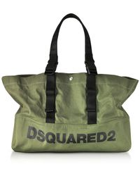 DSquared² - Military Green Canvas Shopping Bag W/funny Handles - Lyst