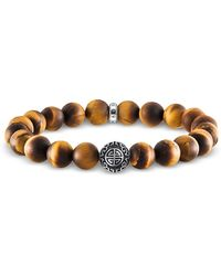 Thomas Sabo - Ethno Yellow Tiger Eye Beads And Sterling Silver Men's Bracelet - Lyst