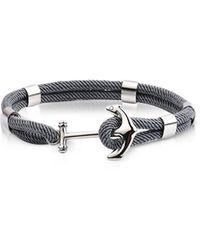 FORZIERI - Dark Gray Nautical Rope Double Bracelet W/anchor - Lyst