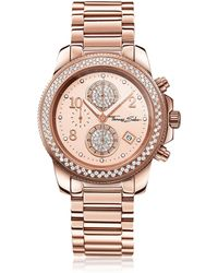 Thomas Sabo - Glam Chrono Rose Gold Stainless Steel Women's Watch W/crystals - Lyst