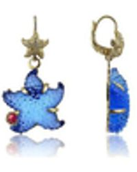 Tagliamonte - Marina Collection - Blue Starfish Rubie & 18k Gold Earrings - Lyst