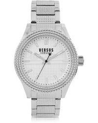 Versus - Bayside Silver Tone Stainless Steel Unisex Bracelet Watch - Lyst