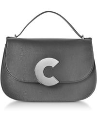 Coccinelle - Craquante Grained Leather Satchel Bag W/shoulder Strap - Lyst
