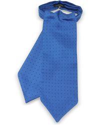 FORZIERI - Polkadots Print Silk Tie Ascot - Lyst