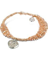 Orlando Orlandini - Galaxy - Diamond Charm 18k Rose Gold Bracelet - Lyst