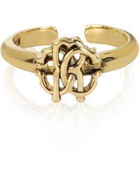 Roberto Cavalli - Polished Goldtone Rc Icon Ring - Lyst