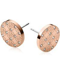 Michael Kors - Heritage Metal Earrings W/crystals - Lyst
