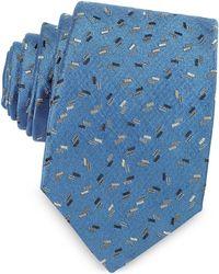 Lanvin - Confetti Pattern Woven Silk Tie - Lyst