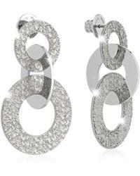 Rebecca - R-zero Rhodium Over Bronze Earrings - Lyst