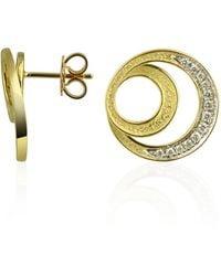 Torrini | Infinity 18k Yellow Gold Diamond Earrings | Lyst
