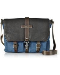 The Bridge - Carver-d Canvas Messenger Bag W/leather Flap - Lyst