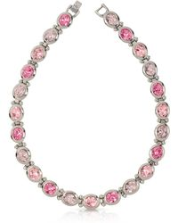 Forzieri | Pink Crystals Necklace | Lyst