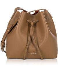 Lancaster Paris - Pur And Element Foulonné Camel/pumpkin Small Bucket Bag - Lyst