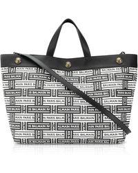 Balmain - Logo Tote Bag - Lyst
