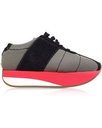 Marni - Grass and Black Tech Fabric Big Foot Sneakers - Lyst