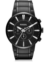 Fossil - Others Black Stainless Steel Men's Chronograph Watch - Lyst