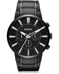 Fossil Others Reloj Cronógrafo para Hombre de Acero Inoxidable Negro