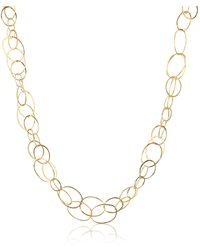 Orlando Orlandini - Scintille - 18k Yellow Gold Chain Necklace - Lyst