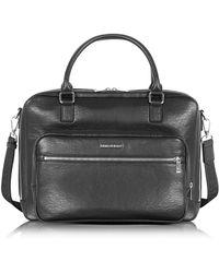 Armani Jeans - Black Eco Leather Men's Briefcase - Lyst