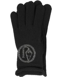 Armani Jeans - Signature Wool Blend Gloves - Lyst