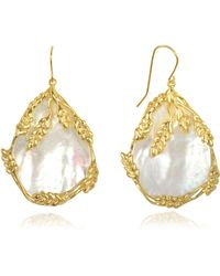 Aurelie Bidermann - Francoise Mother Of Pearl Earrings - Lyst