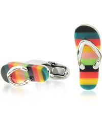 Paul Smith - Artist Stripe Flip Flop Men's Cufflinks - Lyst