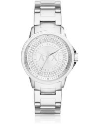 Armani Exchange - Lady Banks Stainless Steel Women's Watch - Lyst