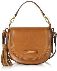 The Bridge - Medium Leather Messenger Bag W/tassels - Lyst