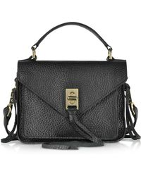 Rebecca Minkoff - Glossy Leather Mini Darren Messenger Bag - Lyst