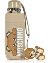 Moschino - Hidden Teddy Bear Beige Supermini Umbrella - Lyst