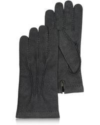 FORZIERI - Schwarze Herrenhandschuhe aus italienischem Kalbsleder - Lyst