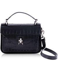 Rebecca Minkoff - Croco Embossed Leather Mini Darren Messenger Bag - Lyst