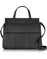 Tory Burch - Black T Leather Top Handle Satchel - Lyst