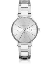 Armani Exchange - Lola Stainless Steel Chronograph Women's Watch - Lyst