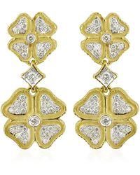 Torrini | Quadrifoglio Diamond Four-leaf Clover 18k Gold Earrings | Lyst