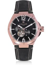 Lancaster - Space Shuttle Meccanico Rose Gold PVD Stainless Steel and Nubuck Men's Watch - Lyst