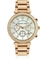 9853543bd Michael Kors - Glitz-top Chronograph Watch - Lyst