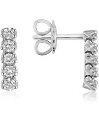 FORZIERI - 0.37 Ctw Five-stone Drop Diamond 18k Gold Earrings - Lyst