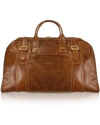 Chiarugi | Handmade Brown Genuine Italian Leather Duffle Travel Bag | Lyst